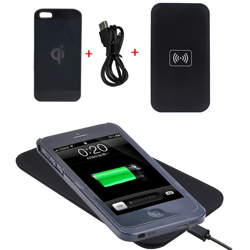 black qi wireless charger transmitter pad mat wireless. Black Bedroom Furniture Sets. Home Design Ideas