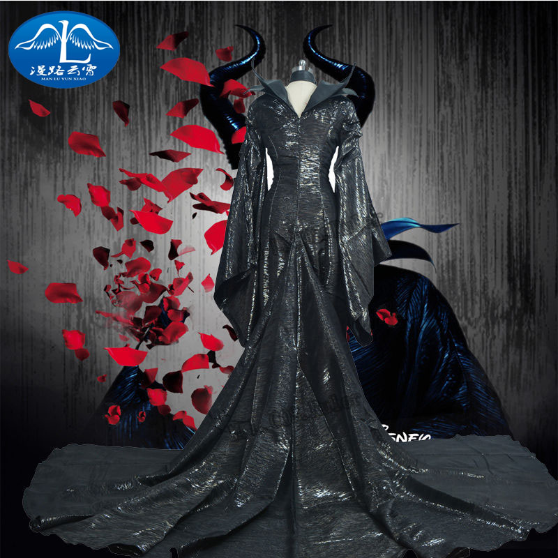New Maleficent  Adult witch Sleeping Cosplay Costume Halloween