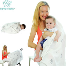 3pcs/lot Muslin 120*120 Cross Baby Blanket Bedding Cotton Wrap Envelope Swaddle Towel For Newborn Sleep Wrap Diaper swaddleme