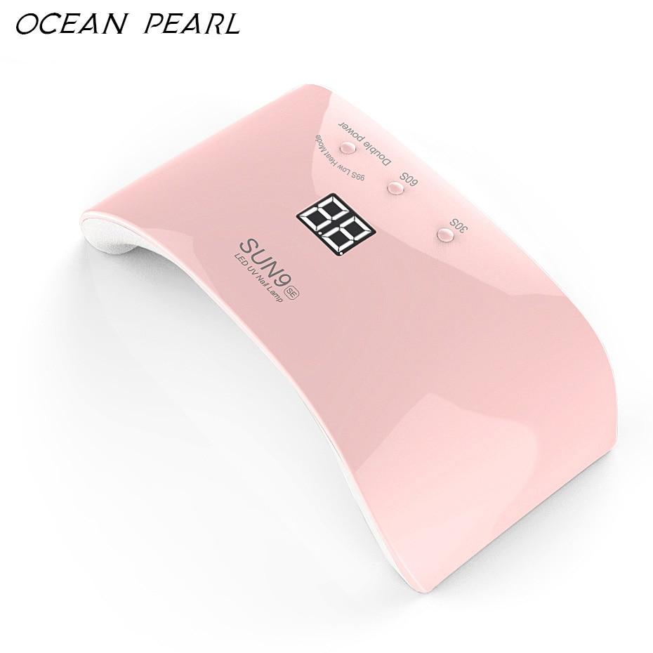 OCEAN PEARL SUN9SE 24 w motion sensor LED lâmpada UV do prego secador de alta-tecnologia de leds de luz Dupla Lâmpada Prego ferramentas Da Arte do Prego UV Gel Polonês