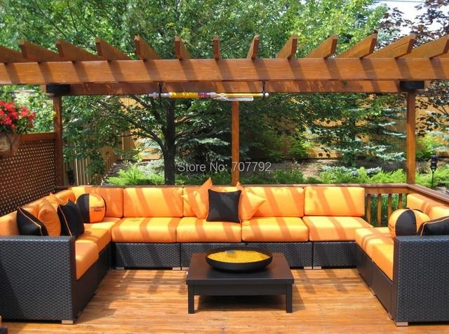 2017 garden furniture rattan sectional corner 9 seater sofa set - Garden Furniture Sofa Sets