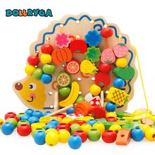 Купить с кэшбэком DOLLRYGA New Baby Toys DIY Wooden Constructor Learning Toy For Kids Colourful Wooden Model Building Blocks Brithday Gifts 82pcs