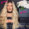 180% Density Brazilian virgin hair Front lace wigs Blonde Hair full lace human hair wigs T1B/613 Glueless Wig for Black Women