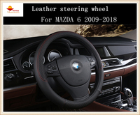 Fashion Sport Style Leather Car Steering Wheel Cover For MAZDA 6 2009 2018