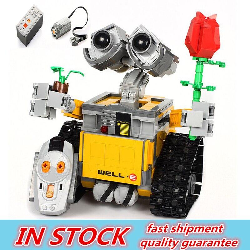 RC télécommande mur E Robot Figure avec batterie bloc de construction briques modèle jouets Compatible 16003 Technik 21303