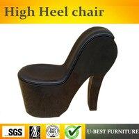 U BEST высокий каблук в форме преувеличивать PU тонкие диван кресло мебель для гостиной, торговые центры формы стулья
