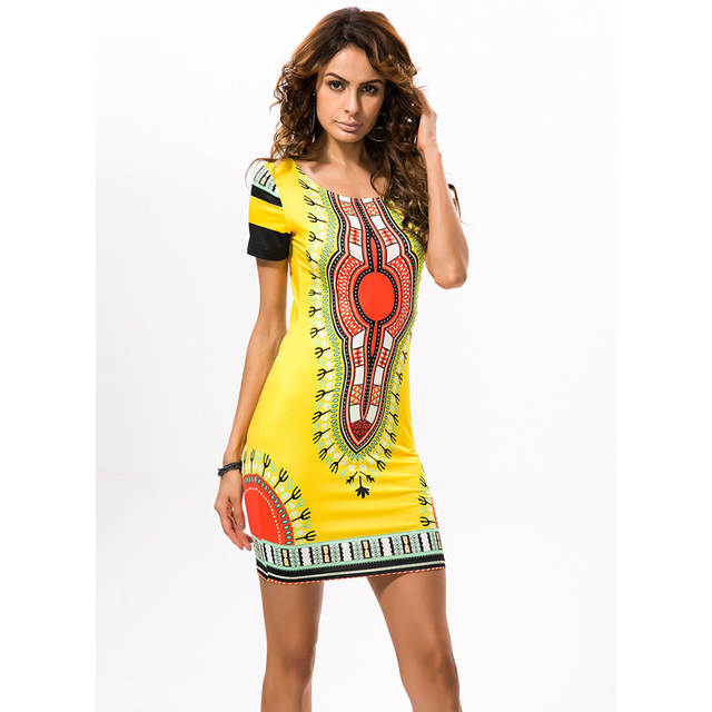 US $17.81 |2018 African Print Dresses for Women Africa Clothing Traditional  Dashiki Dresses Fashion Designs Plus Size Dress Female 2XL 3XL -in Dresses  ...