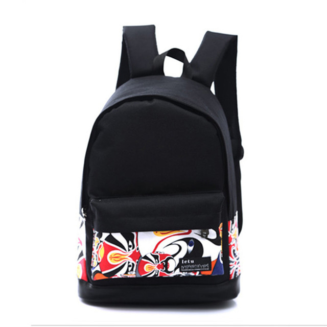 Fashion Women Canvas Printing Backpack Lightweight School Backpacks for Girls Teenagers Female Large Travel Bags 5