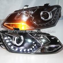 RHD version car light FOR  vw polo LED Angel Eye Head Lamp 2011 -2013  year