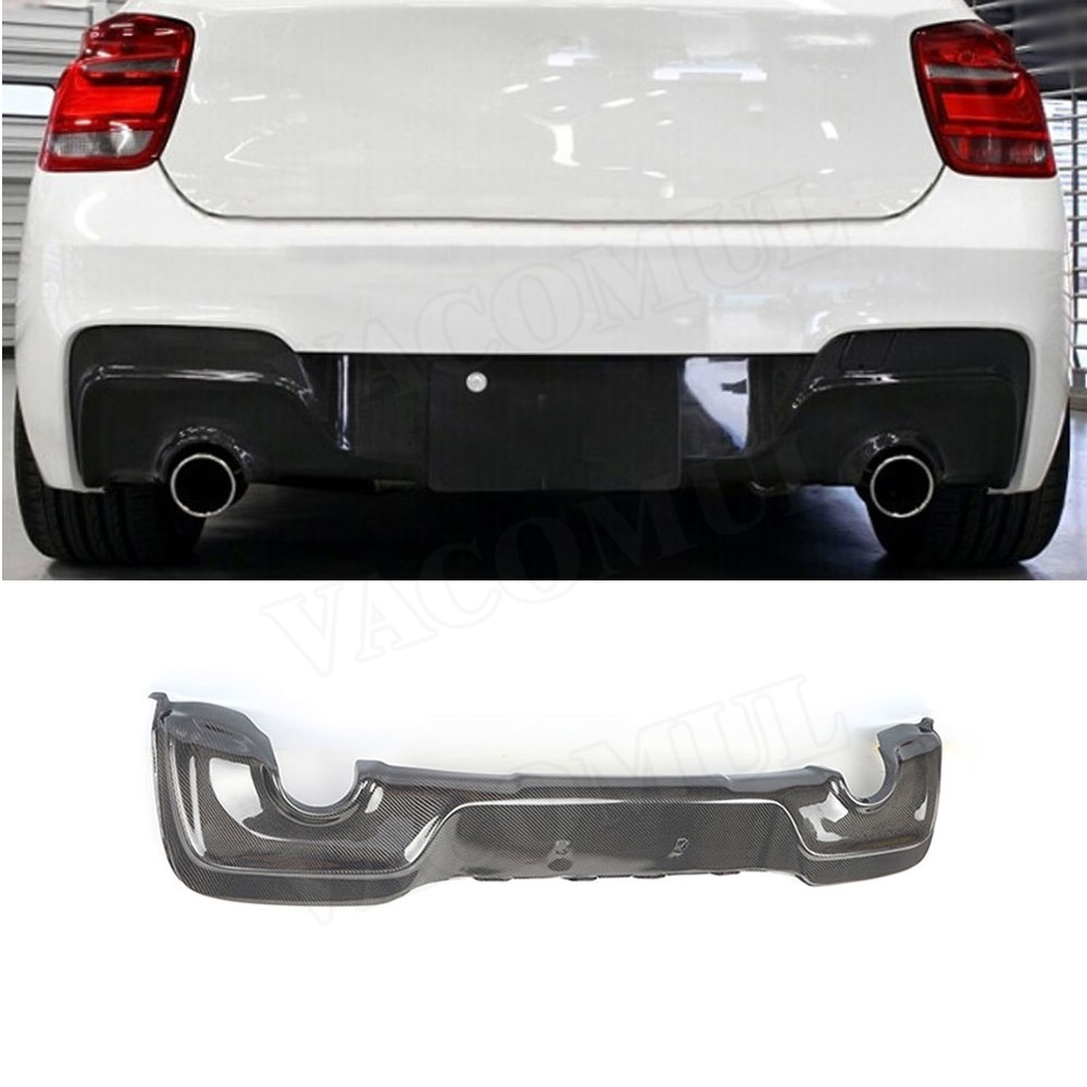 Carbon Fiber Rear Lip Diffuser Spoiler for BMW 1 Series F20 M-Tech M135i M Sport Spoiler 2012-2014 Bumper Plate Car Styling image