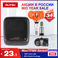 Autel MX Sensors 433 MHz 315 MHz Autel Sensors Tyre Analysis work with TPMS PAD TS401 TS601 100% Clone able and 98% Coverage