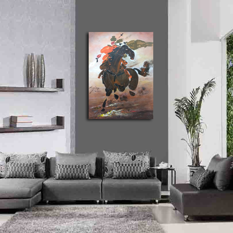 Нож рисунок картины украшение картины на заказ Оригинальный Картина маслом честность лояльности Hero китайский стиль 17122501 - 4