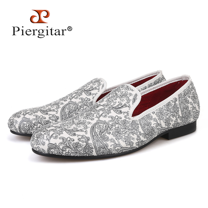 2018 AW New Design Paisley Prints Mens White Casual Smoking Slipper Easy to Wear Loafer Which Suitable for Daily/Banquet/Party2018 AW New Design Paisley Prints Mens White Casual Smoking Slipper Easy to Wear Loafer Which Suitable for Daily/Banquet/Party