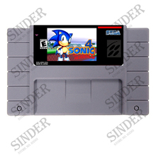 Sonic The Hedgehog 4 16 bit Super Game Card For NTSC USA Game Player