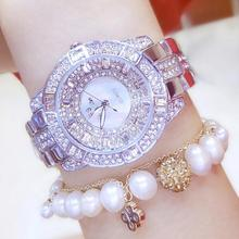 2017 New Arrival Women Watch High Quality Luxury Lady Dress Stainless Steel Bracelet Wristwatches Crystal Students