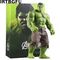 42cm Avengers Incredible Hulk Iron Man Hulk Buster Age Of Ultron Hulkbuster Pvc Toys Action Figure Hulk Smash