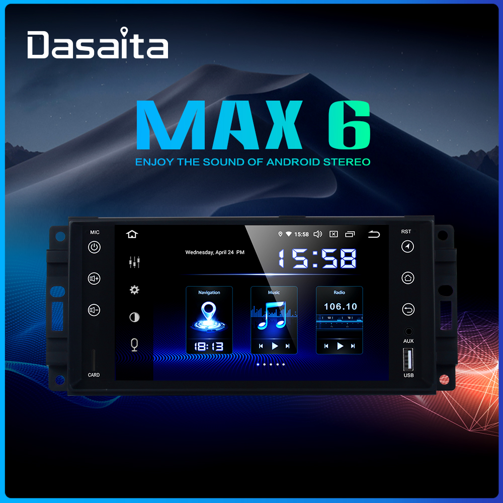 Dasaita 7 Android 9 0 Car GPS Stereo Radio for Jeep Wrangler Chrysler Dodge Commander Compass
