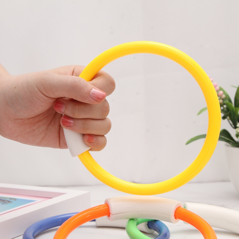 Summer Swimming Pool Accessories Games Gifts Buoys Outdoor Sports Colorful Diving Ring for Kids Beach Toys