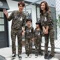 Correspondência da família clothing primavera outono camuflagem moletom família mãe e filha combinando conjuntos de roupas calças camisola