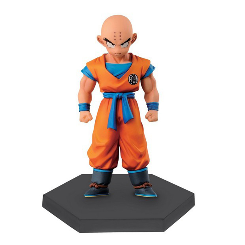 1Pcs Kuririn Figure Dragon Ball Z Super Krillin Kuririn PVC Action Figures Toy Collectible Model Dolls Toys 12cm