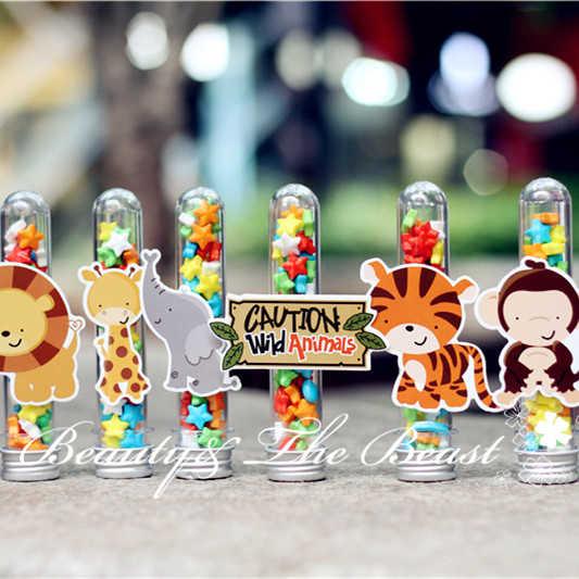 Mesa De Dulce De Baby Shower.Wild Animal Candy Box Gift Box Candy Bar Dessert Party