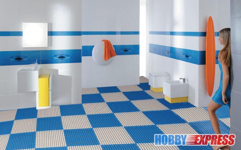 New 4 Packs Of Interlocking Plastic Floor Mat Tile Anti Slip Circle