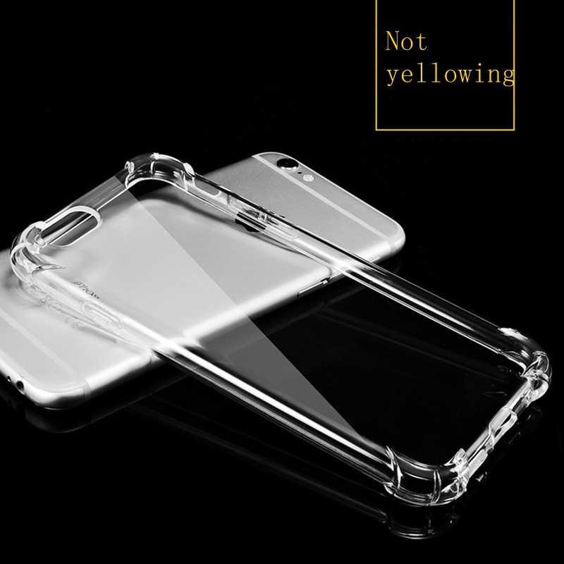 Funda transparente à prova de choque silicone capa para iphone 11 pro x xs max xr 6s 7 8 plus caso 360 claro proteger capa coque