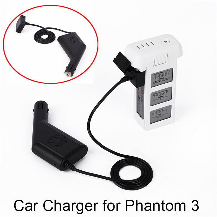 Car Charger for DJI Phantom 3 Drone Battery Portable Outdoor Fast Charging Charger Spare Parts 3A 3P SE 3S parrot minidrones series rolling spider mambo swing quadcopter drone parts fast charger jumping race sumo car battery charger