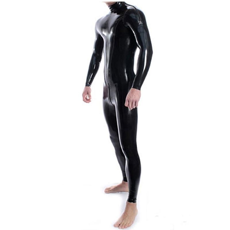 Sexy Men Latex Body New Arrive Fetish Rubber Catsuit Para Hombre Con - Disfraces