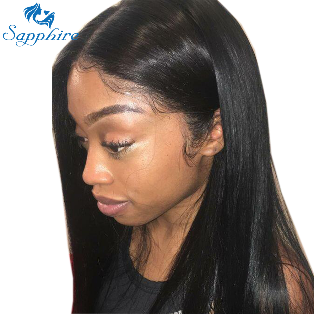 Sapphire Lace Front Human Hair Wigs For Women Pre Plucked Hairline With Baby Hair 8 20Inch