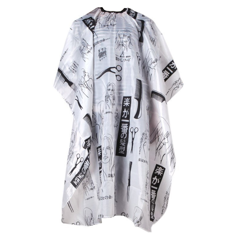 Hot Professional Hair Salon Cape Haircut Barber Gown Cloth Adult Kids Hairdressing Apron Hairdressing Supplies Black+White