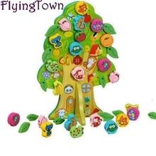 Dyr og frukttrær tre matematikk leker for barn baby montessori pedagogiske leker lærer leker brinquedos barnehage