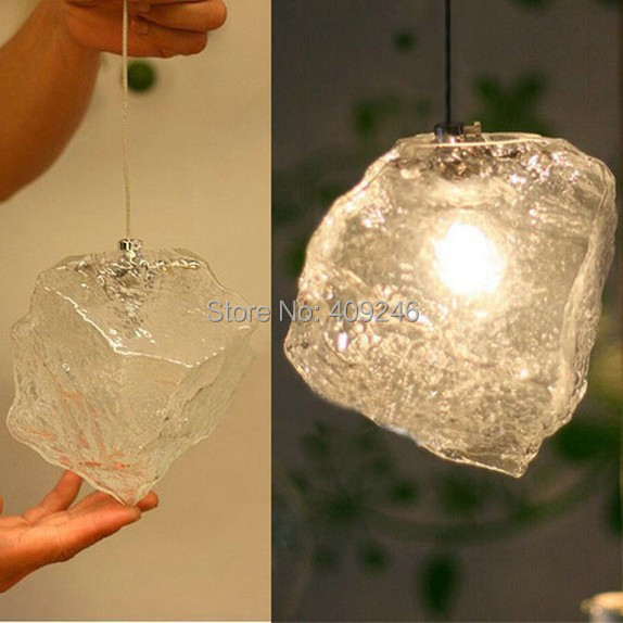 RH LOFT Ice Glass Industrial Vintage Ceiling lamp pendant light coffee shop Bar vintage loft industrial edison flower glass ceiling lamp droplight pendant hotel hallway store club cafe beside coffee shop