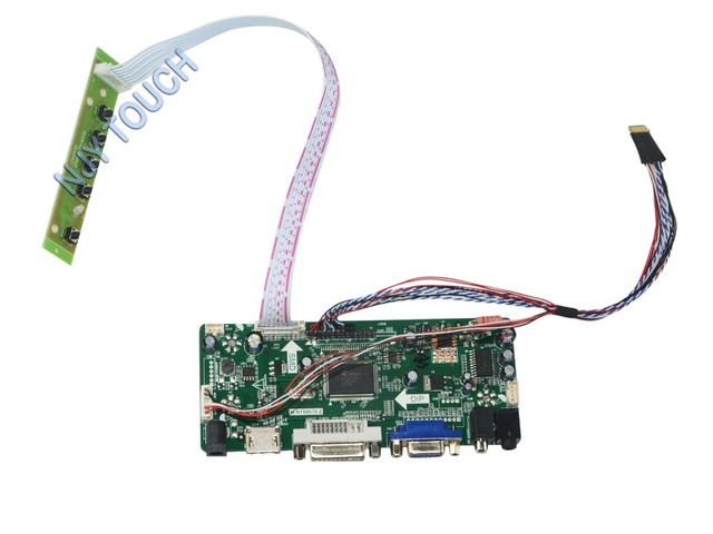 M.NT68676.2A Universal HDMI VGA DVI Audio LCD Controller Board for 15.6inch 1366x768 LTN156AT02 LED Monitor Kit for Raspberry Pi