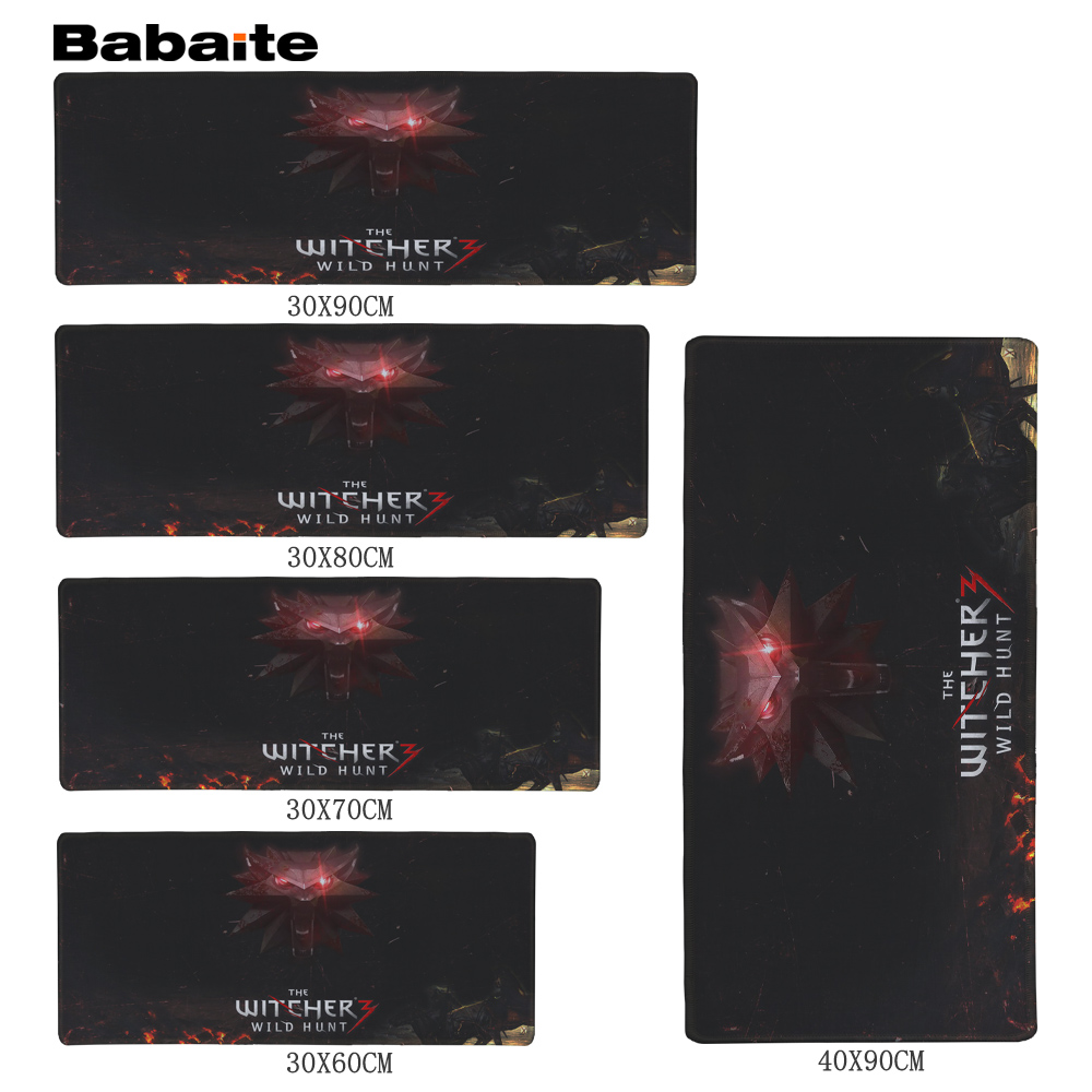 BabaiteThe Witcher 3 Wild Large Gaming Mouse Pad Locking Edge Mouse Mat Control/Speed Version Mousepad Mice Mat for Lol CS Dota2