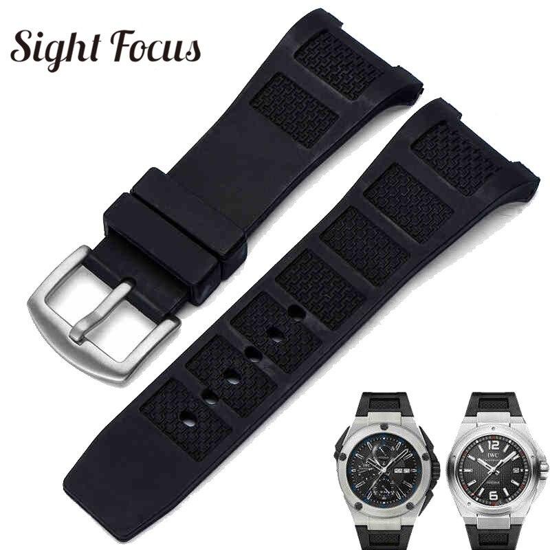 0438ca7481cd Primera final de caucho de silicona banda de reloj para CBI ingeniero correa  para hombres 30mm negro impermeable correa de reloj pulseras Pin hebilla de  ...