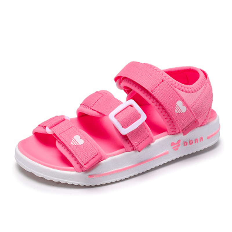 Summer Children Shoes Girls Sport Beach Sandals with Arch Support Kids Hook and Loop Sandals for ...