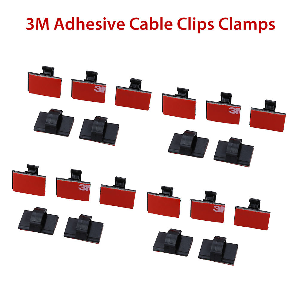 Universal Car Dash Camera 3M tape Adhesive Cable Clips Clamps Drop Wire Tie Mount Holder for VIOFO A118C2 A119 etc Sticker tape 3m adhesive tape bicycle helmet mount for 1 4 camera black