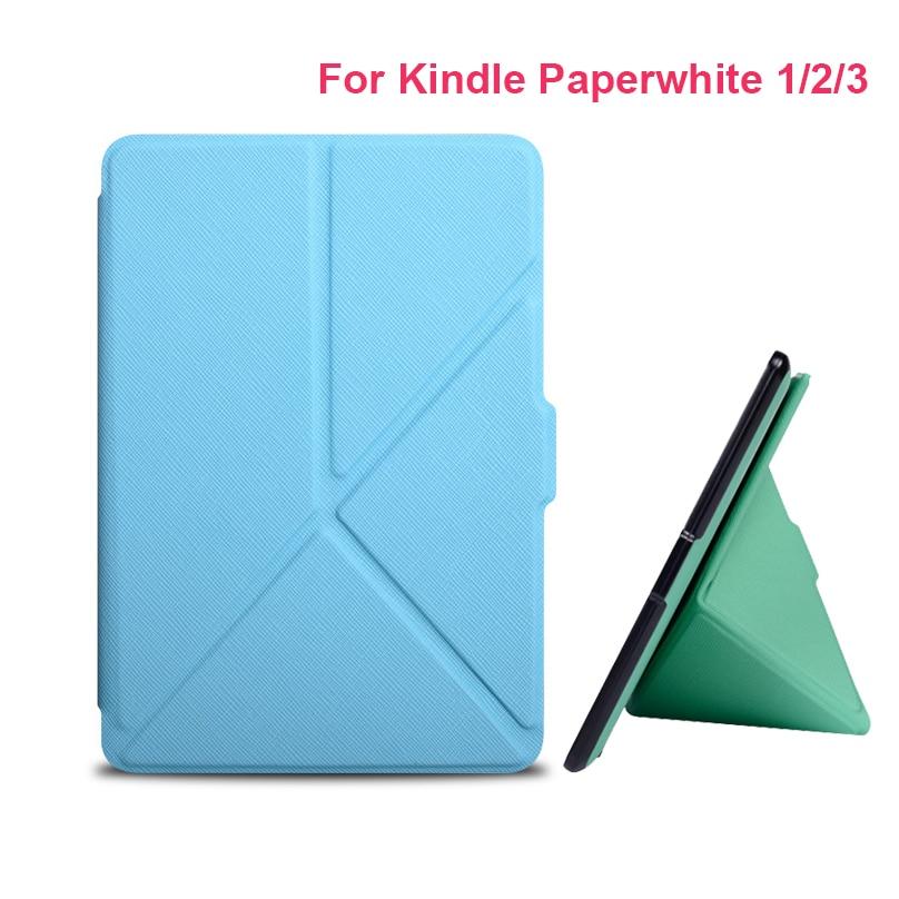 Регулируемый Тонкий Модный чехол для Amazon Kindle Paperwhite, чехол 6 дюймов, электронная книга для Kindle Paperwhite 1 2 3, кожаный чехол для электронной книги Чехлы для планшетов и электронных книг      АлиЭкспресс