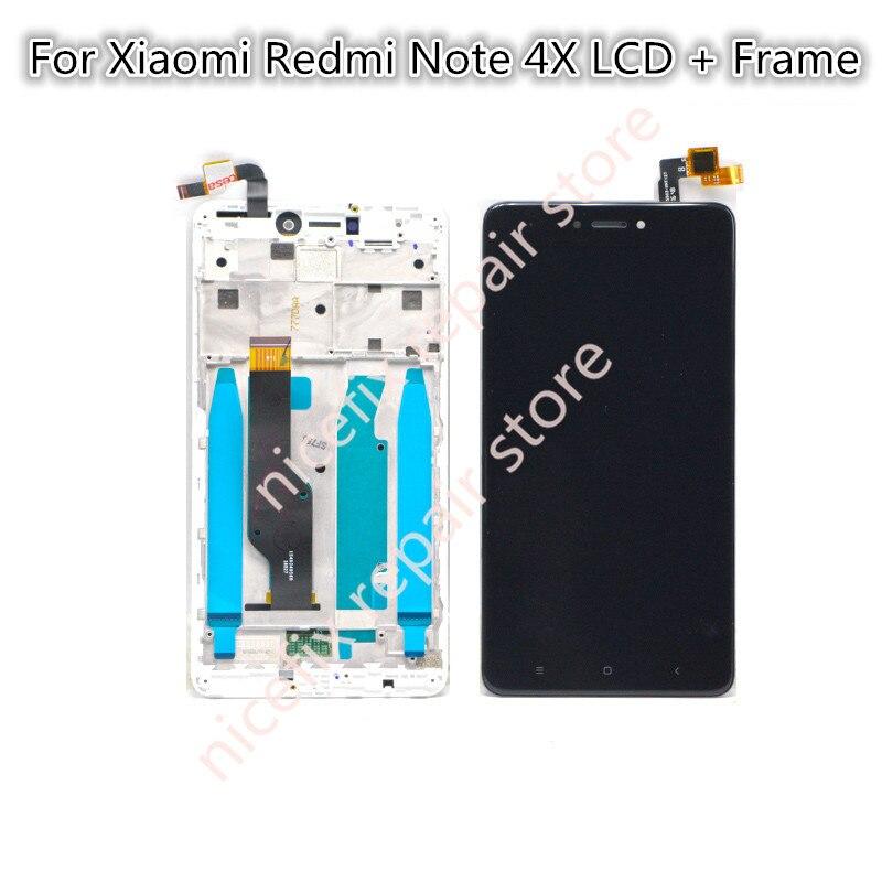 imágenes para Para Xiaomi Redmi Nota 4X LCD Screen Display de Pantalla Táctil Nota 4X5.5 inch Reemplazo digitalizador asamblea con Marco de Reparación partes