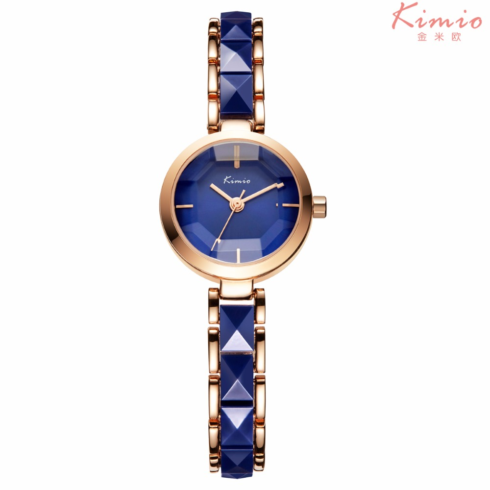 Kimio Brand Women Watch Ladies Imitation Ceramic Gold Casual Watches Montre Femme Women's WristWatches Relojes Mujer Montre