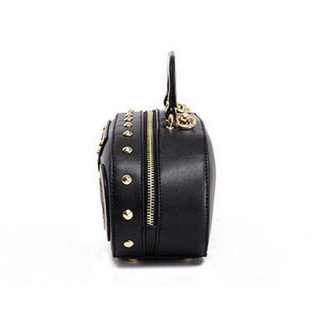 Rock style Retro Radio Shape Handbags Women Shouder bag PU leather Women's Fashion Rivet letter bag Korea punk tote bag  XS-36