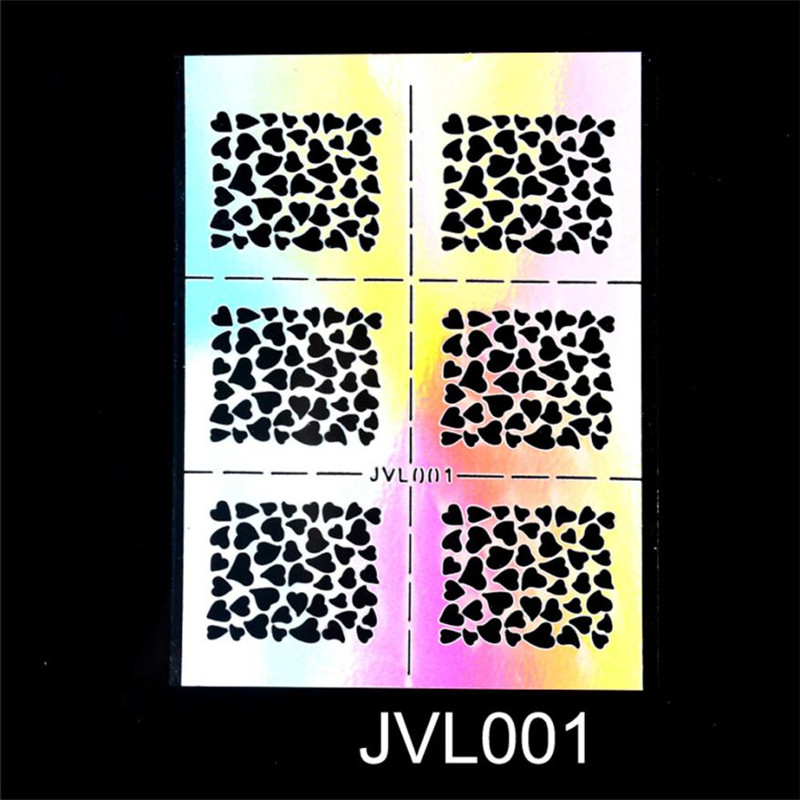 ISHOWTIENDA Nail Art Transfer Stickers Design Hollow Manicure Tips Decal Decoration Tool Wholesale & Drop Shipping
