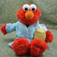 Reino unido sesame street Elmo dibujos animados juguete relleno felpa muñeca 35 cm Elmo en vestido
