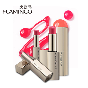 Freeshiping FLAMINGO Brand Food Grade Moisturizer Nutritious Smooth Full Color long lasting Matte Alluring Kiss Lipstick LM41003