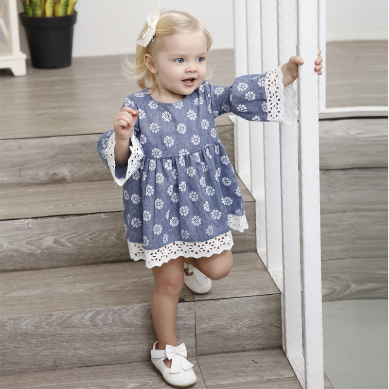 2018 autumn spring Toddler Shirt infant baby clothes Tops for girl clothing princess party Christmas Cloth Kids girls Shirts 5T