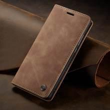 Para huawei p caso inteligente flip capa de couro huawei p inteligente 2018 caso carteira magnética de luxo para huawei honor 9 lite telefone casos