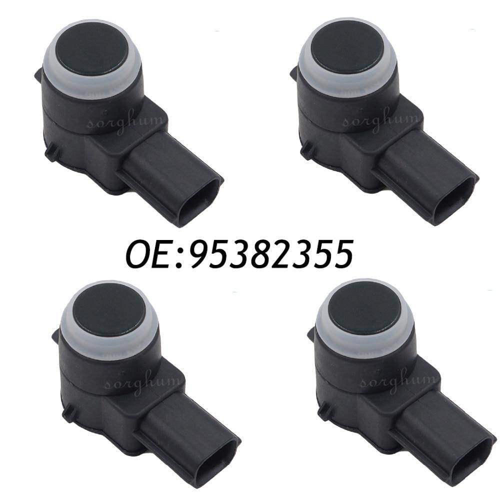 4PCS PDC Ultrasonic Parking Assist Sensor For GM 95382355 0263023632 Black new set 4 89341 0c010 42342 parking ultrasonic sensor for toyota tundra 2014 2015 left right 0c010 42342