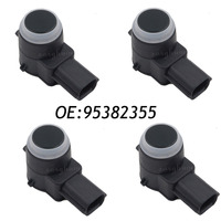 4PCS PDC Ultrasonic Parking Assist Sensor For GM 95382355 0263023632 Black