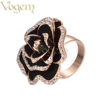 Simulation Of Diamond Ring For Women Enamel Platinum Plated Celtic Rings Drop Shipping R1268R1
